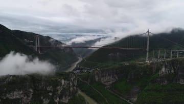 四川省と貴州省を結ぶスーパープロジェクト「赤水河大橋」接合完了