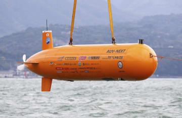 日本チームの海中ロボット(チームKUROSHIO提供)