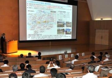 西日本豪雨の発生から1年を前に土木学会中国支部などが開いた講演会