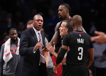 Doc Rivers Ejected, Clippers Fall to Nets 127-122 in Double OT