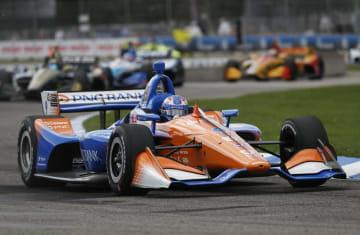 インディカー・シリーズ第8戦 今季初勝利を挙げたスコット・ディクソン=デトロイト(AP=共同)