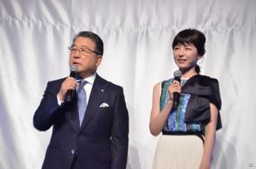徳光和夫さん(左)と平井理央さん(右)
