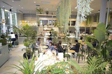 ロフトに初めてオープンしたカフェ「ロフトフードラボ」=東京都中央区