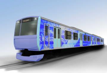 水素を活用する燃料電池を搭載した鉄道車両のイメージ(JR東日本提供)