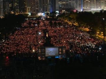Hong Kong's annual Tiananmen Square Massacre vigil, 2019. Photo: Todd Darling.