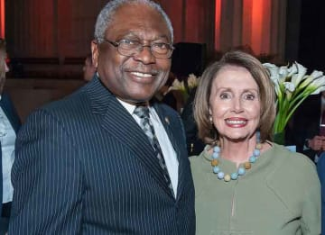 Rep. Jim Clyburn with House Speaker Nancy Pelosi