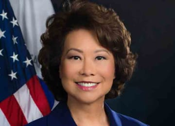 Description: English: Elaine Chao Date: 1 March 2019 Source https://www.transportation.gov/sites/dot.gov/files/S1-revised-photo-03-01-2019.jpg Author United States Department of Transportation (Wikipedia)