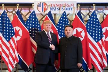 2月の首脳会談はモノ別れに(米ホワイトハウスのホームページから)
