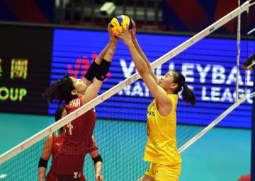 中国、日本に勝利 女子バレーボールネーションズリーグ