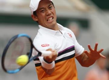 錦織圭、準々決勝で敗退 全仏テニス