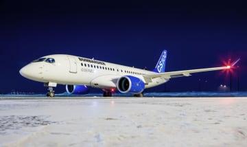 ボンバルディアの小型旅客機(同社提供・共同)