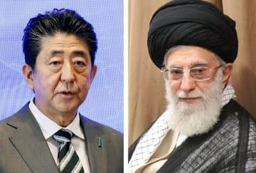 安倍首相、イランの最高指導者ハメネイ師(ゲッティ=共同)