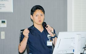 肺がん手術について語る長谷科長