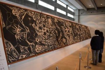倉敷市立美術館で公開されている棟方志功の大板壁画