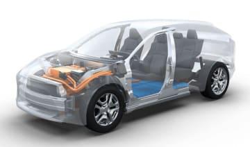 トヨタ自動車とスバルが共同開発するEV専用の車台のイメージ