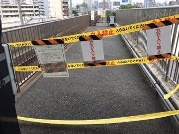 今宮駅の立ち入り禁止エリア。凍結さん(@Toketsu_004)のツイートより
