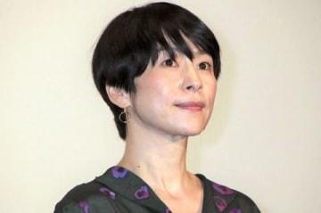 映画「凪待ち」の完成披露試写会に登場した西田尚美さん