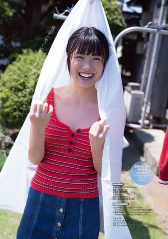 「ヤングガンガン」12号に登場した「SUPER☆GiRLS」の樋口なづなさん(撮影:LUCKMAN)