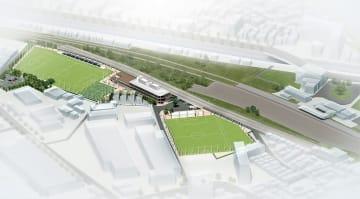 マリノスの練習拠点となる「くりはまみんなの公園」完成予想図=横須賀市提供