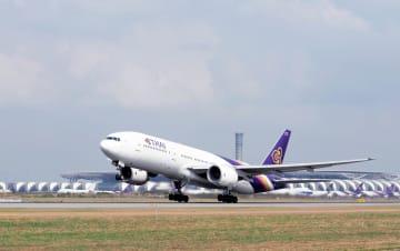 仙台-バンコク線に使われるボーイング777-200型機(タイ国際航空提供)