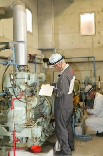 中川排水機場で行われた点検作業