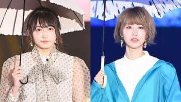 ファッション&音楽イベント「Rakuten GirlsAward 2019 SPRING/SUMMER」に登場した渡辺梨加さん(左)と土生瑞穂さん