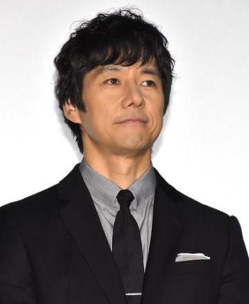 映画「空母いぶき」の大ヒット御礼舞台あいさつに出席した西島秀俊さん