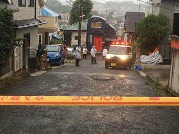 成人女性の遺体が見つかった現場アパート周辺=川崎市麻生区高石(画像の一部を加工しています)