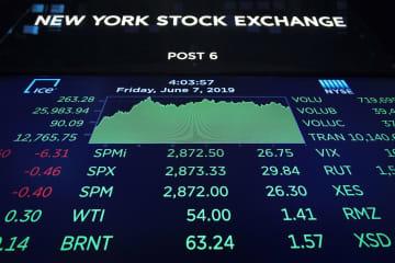7日のニューヨーク証券取引所(ゲッティ=共同)