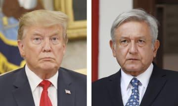 トランプ米大統領、メキシコのロペスオブラドール大統領(ロイター=共同)