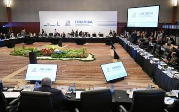 福岡市で開幕したG20財務相・中央銀行総裁会議=8日午後(代表撮影)