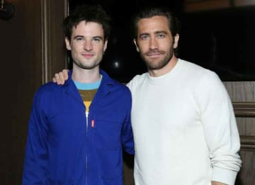Tom Sturridge & Jake Gyllenhaal Attend Party For Their Broadway Play 'Sea Wall/A Life'