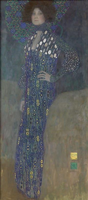 グスタフ・クリムト《エミーリエ・フレーゲの肖像》1902年 油彩/カンヴァス 178×80cm ウィーン・ミュージアム蔵(C)Wien Museum / Foto Peter Kainz