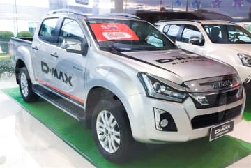 A D-Max1.9 pickup truck launched by Tri Petch Isuzu Sales Cambodia Co. is pictured on June 9, 2019. (NNA/Kyodo)