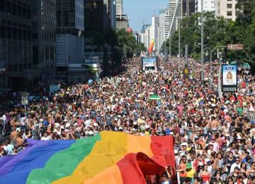 LGBT Pride Parade in Sao Paulo