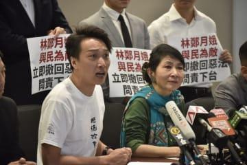 Jimmy Sham (left). Photo: inmediahk.net.