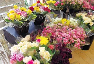 施設内で販売されている花束やフラワーアレンジメント