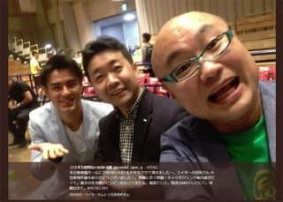 左より小笠原瑛作、茂田氏、ユリオカの実況解説陣@yurioka_spex_q より