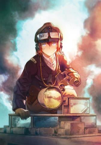 「ゲッサン」7月号でスタートした広江礼威さんの新連載「341戦闘団」のビジュアル=小学館提供