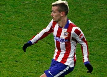 Description: English: Antoine Griezmann playing for Atlético Madrid. Date 15 January 2015, 20:56:23 Source Flickr.com (original photo) Author Photo by DSanchez17 from Hertfordshire, England Cropped and retouched by Danyele (Wikipedia)