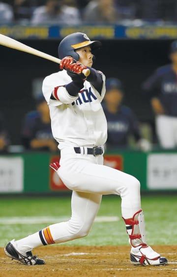 東北福祉大―創価大 5回、東北福祉大・楠本が右越えにソロ本塁打を放つ=東京ドーム