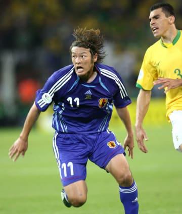 2006年6月22日、FIFAワールドカップドイツ大会ブラジル戦の巻誠一郎選手