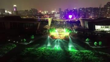 ドローン400機による光のショー 「武漢ハス節」開幕