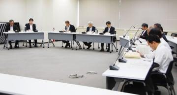 原子力規制委の定例会合=12日午後、東京都港区