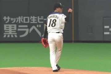 プロ初勝利を挙げた日本ハム・吉田輝星【画像:(C)PLM】