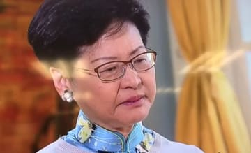 Carrie Lam interview with TVB. Photo: Screenshot.