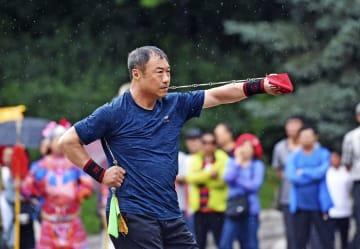 雨の中の武術魂 遼寧省本渓市