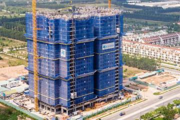 ベカメックス東急がビンズオン省で開発中の大型マンション「ミドリパーク・ザ・ビュー」(同社提供)