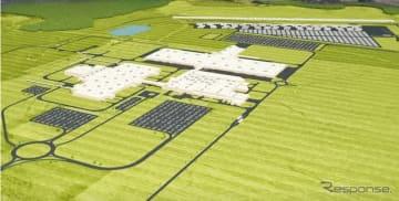 マツダとトヨタが米国に建設中のハンツビル新工場の完成イメージ