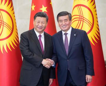 習近平主席、キルギス大統領と会談 両国関係深化で共同声明